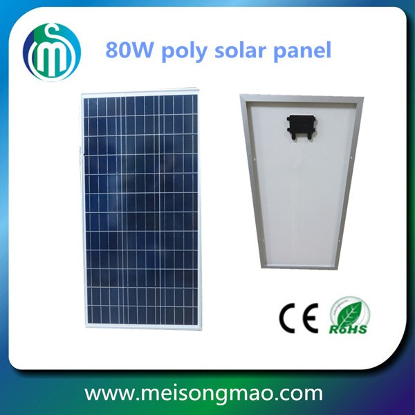 Best price per watt poly solar panel 80 w Malaysia price for sale