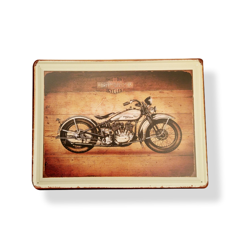 Old look vintage motorcycle metal plaque,tacker,poster,tin sign custom order advertising plate