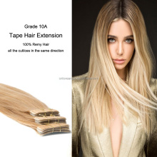 100% indian remy hair soft tape hair extension