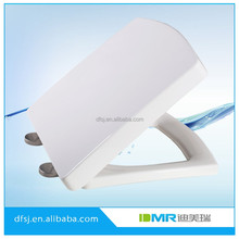 stainless steel hinge white soft close square toilet seat