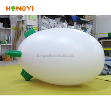 1m white inflatable airship Advertising blimp balloon PVC Spaceship model with Custom LOGO