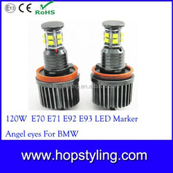 High power CR-EE led marker light, H8 120W 1600LM super bright led angel eye headlight , Car LED LIGHT