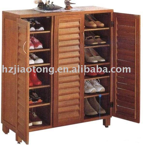 Scarpe di legno mobile armadio di stoccaggio armadietto di - Mobile per scarpe ...