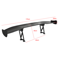 "BYC REAL CARBON FIBER GT STYLE 69"" JDM RACING REAR/BACK TRUNK SPOILER/WING+12 RACKETS"