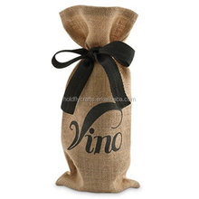 holiday wine gift bags with Ribbon Tie decorative wine bottle holders wholesale
