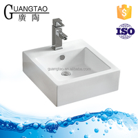 GT-483 bathroom ceramic sink Square Artificial Wash Basin