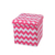 2018 modern linen fabric folded square stool
