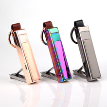 advanced hotel guest gifts rechargeable usb lighter with Nail clipper
