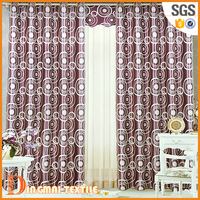 2017 Polyster curtain design for luxury living room set home textile brand names