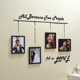 4 Pcs Rectangle Family Picture Frames Black Wedding Photo Frames Wall Stickers DIY Frame For Lover Picture Photo Display Album