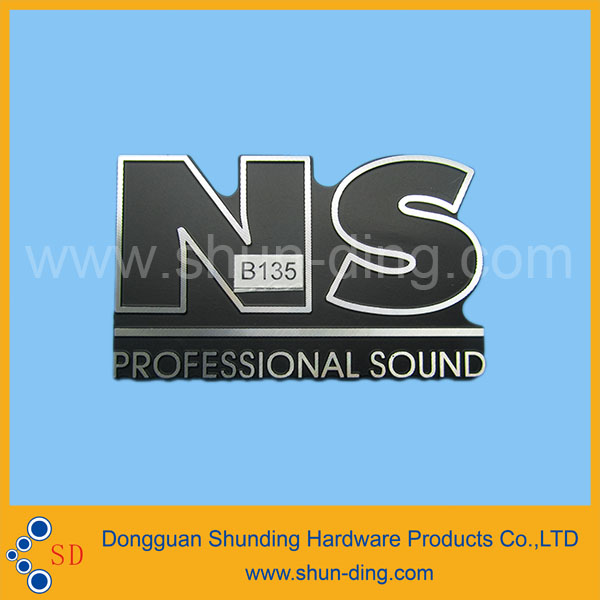 professional produce sound system nameplate