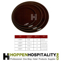 Round durable no vestige repeat layer large plastic trays