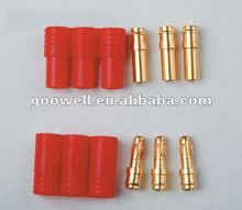 2.0mm/3.5mm/4.0mm /6mm banana plug gold connector male and female