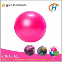 High quality anti-burst massage gym ball packaged with free color box and pump