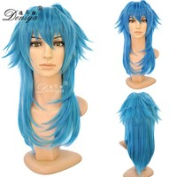 Wigs Fashion Women Party Cosplay Sexy layered Hair Wig dark blue cosplay wig