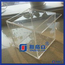 Clear Acrylic Tea Bag Organizer Box with Lid, Transparent Acrylic Storage Box