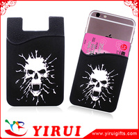 Hot selling custom metro card holder sticky mobile phone cardholder