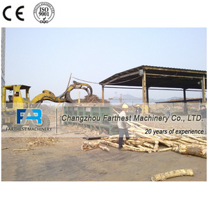 Tree Debarking Machine for Wood Pellet