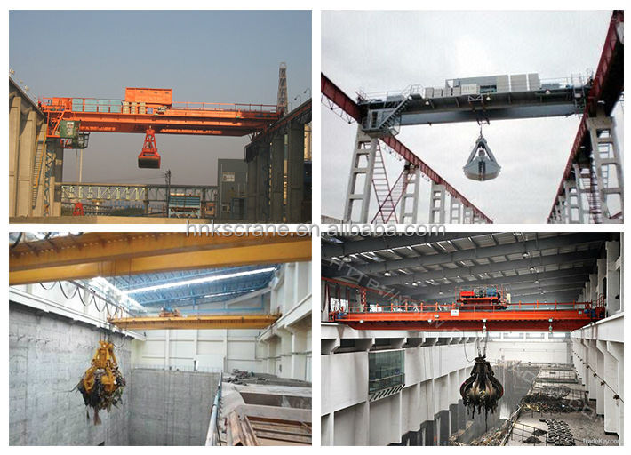 Different Types of Popular Bulk Material Grab Bucket Cranes