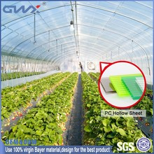 UV protective plastic brick hollow panels for walls for greenhouse