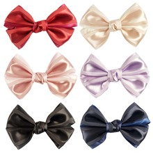 Big baby bows satin hair bows with alligator clip HBW-16061506