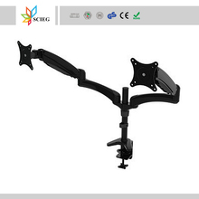 elastic painting dual monitor arm monitor arm monitor and keyboard arm