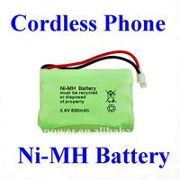 3.6V ni-mh rechargeble battery packs for cordless phone, toys, tools