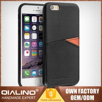 QIALINO Top Quality Handmade Cow Leather Mobile Phone Accessories Dubai For Apple For Iphone 6S Bumper Case