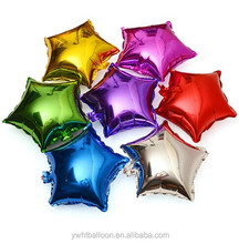 18inch Popular Party Foil HeliumBalloon/ metallic star shape foil baloon/Adult Party Balloon