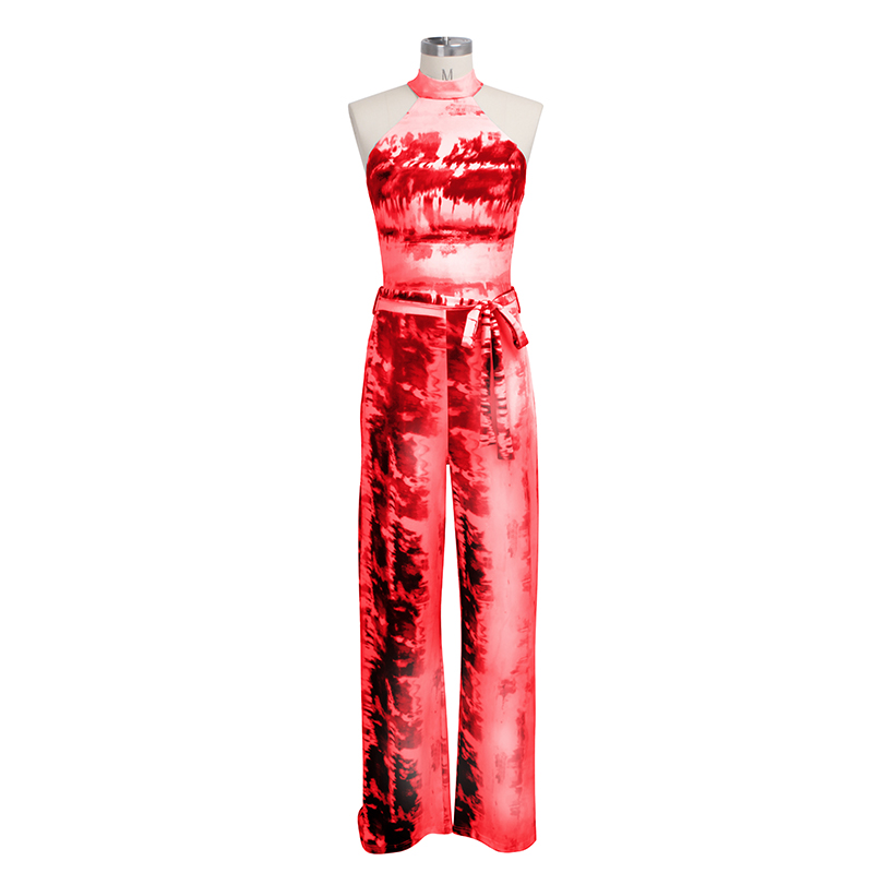 printed  halter bodycon jumpsuits women 2019 sexy womens fashion jumpsuits