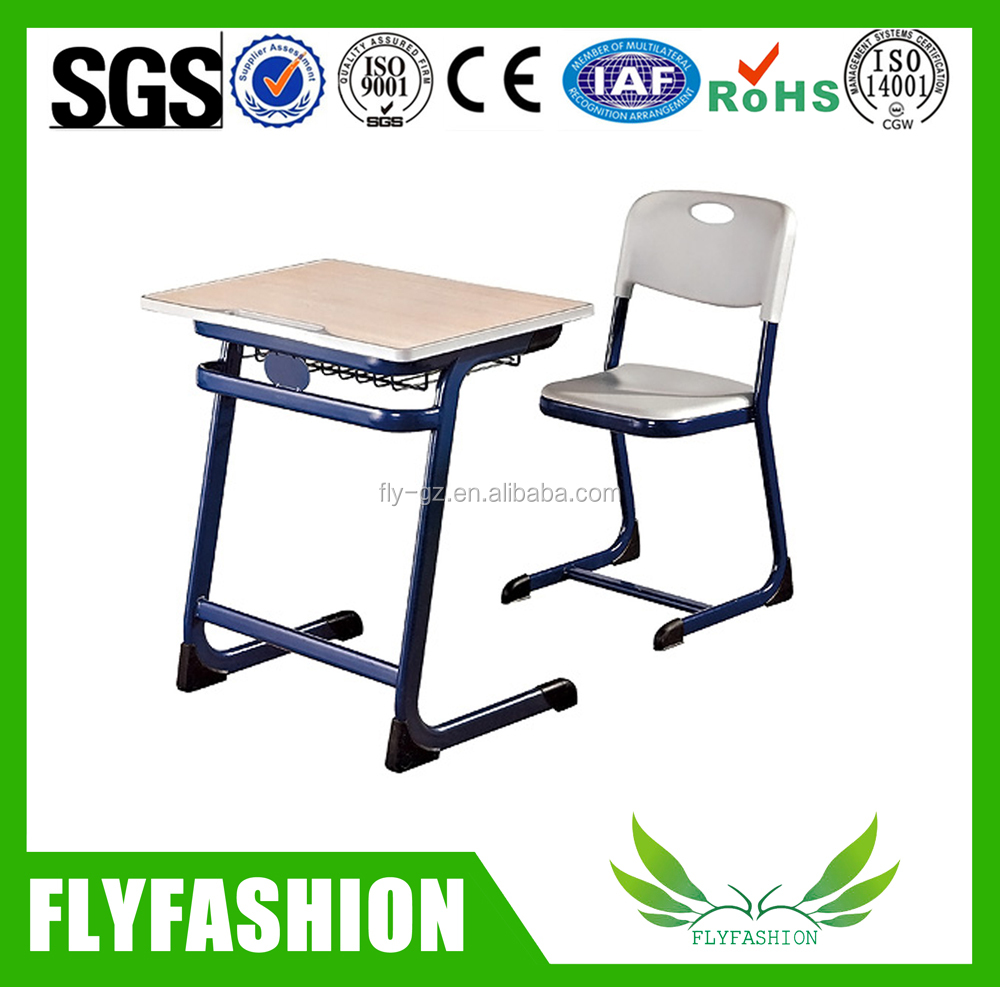 PE plastic study table school desk furniture factory