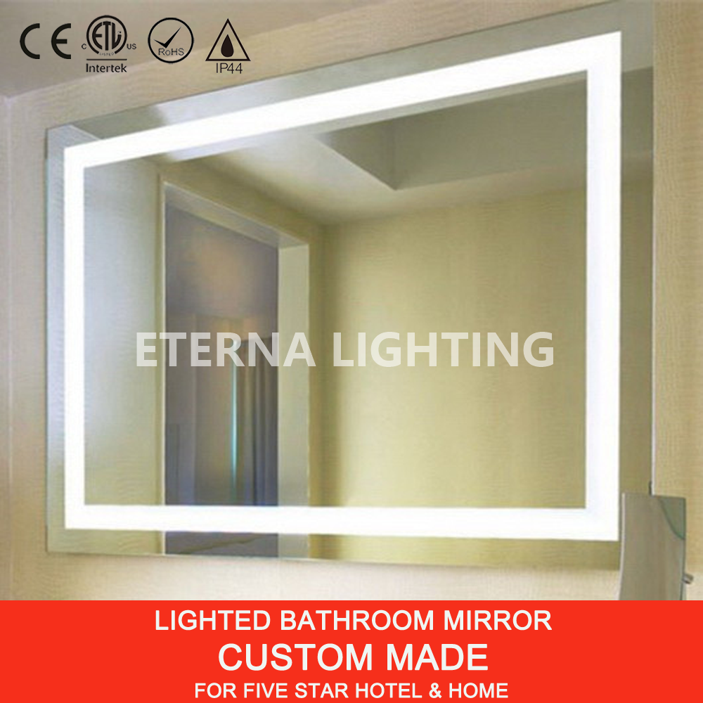 Ip44 Led Lighted Frameless Bathroom Mirror Buy Frameless