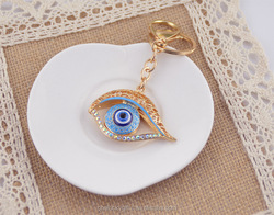 Promotional evil eye key chain With Logo/evil eye key chain /Custom evil eye beads keychain