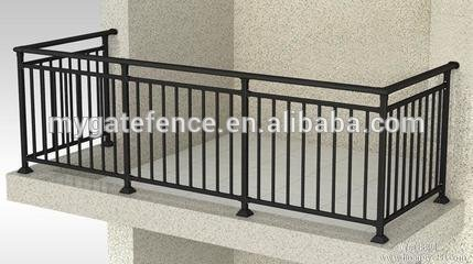 Simple Steel Balcony Grill DesignWrought Iron