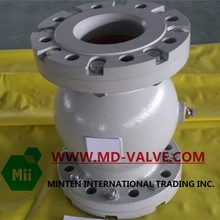 flange Air pinch valve with internal thread and the coupling nut Housing