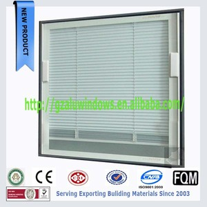 Decorative aluminum built-in shutters with remote controller in windows or doors