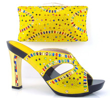 GF16-101C Manufacturer Wholesale High Quality Italian Women Shoes With Matching Bag