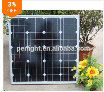 solar panel mono 50W high technology solar cell home system solar pump 12V