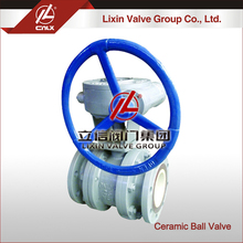 Accept custom electric actuated mini ceramic ball valve wcb