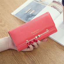 2017 New lady long wallet Japanese and Korean version of the buckle cute female students three fold female long wallet