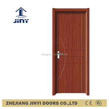 best price china product bedroom pvc wooden interior swing flush pvc door