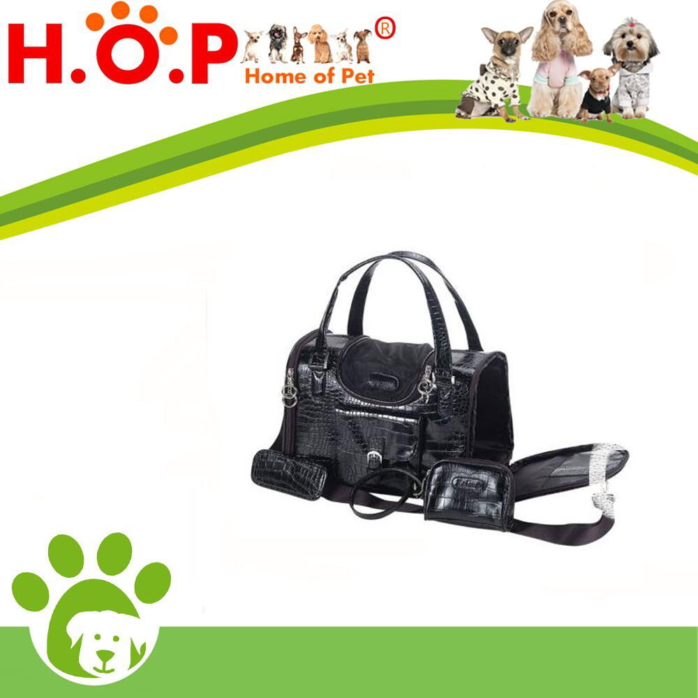 NEW Fashion Faux Crocodile Pet Dog Animal Carrier Tote Bag For Pet Black