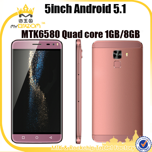 5inch HD 1280*720 Android 5.1 MTK6580 Quad core 3G mobile phone unlocked for sale