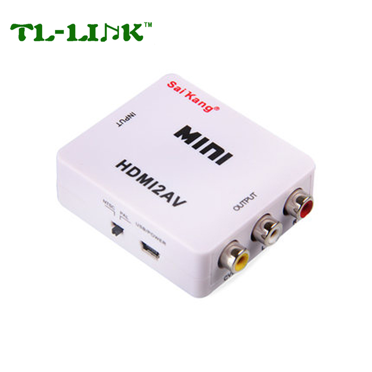 High Quality 1080P HDMI Female to 3 RCA Converter 3RCA Female HDMI to RCA Adapter