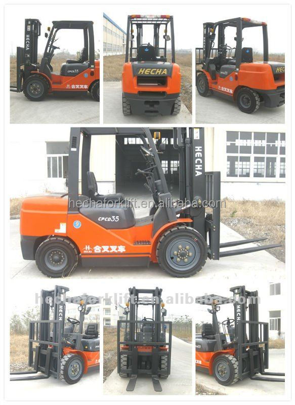 Hot sale 3.5 ton Japan diesel forklift truck,mini tractor ,terrain forklift is similar to TCM