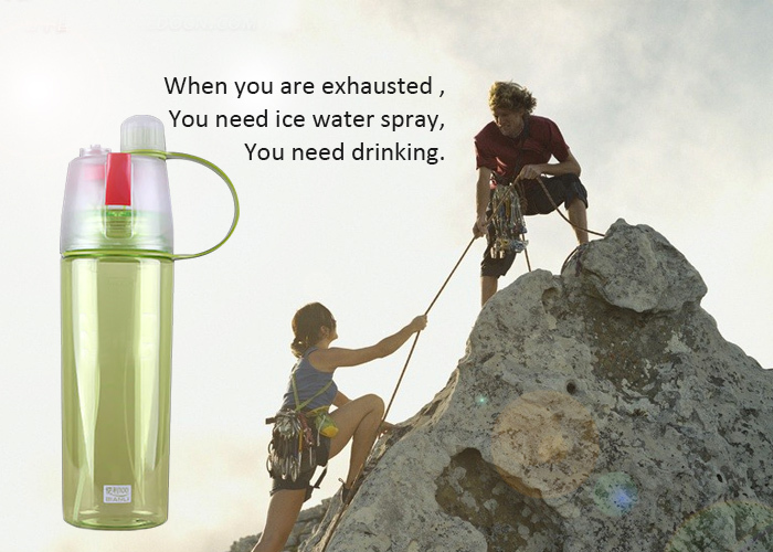 Best sale eco-friendly cheap price tritan spray sports water bottle plastic shaker bottle