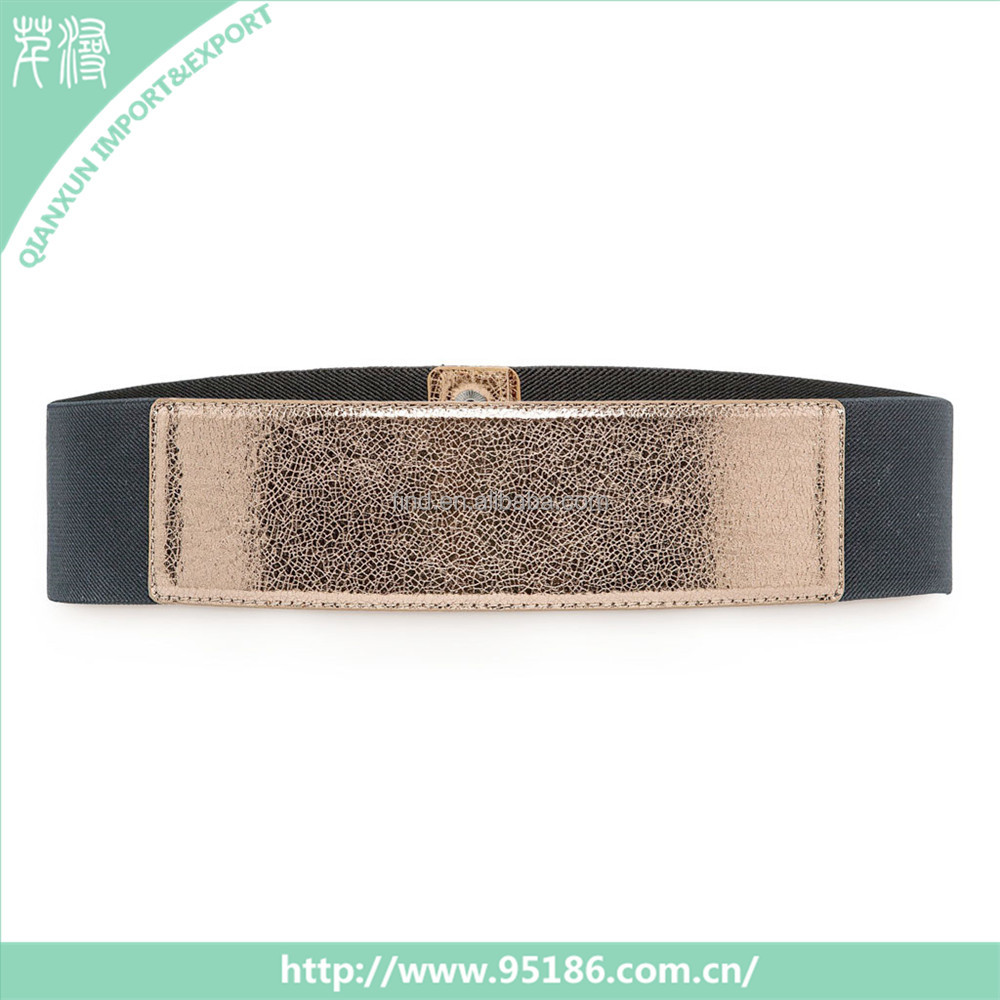 Zipper cheap black color beads women dressy pu leather belts