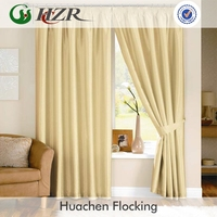 Polyester satin trevira blackout curtain fabric sell in stock machine washable