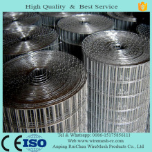 Low MOQ galvanized hardware cloth/ galvanized welded wire mesh