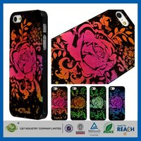 Customized factory price pvc plastic hard case for apple iphone5